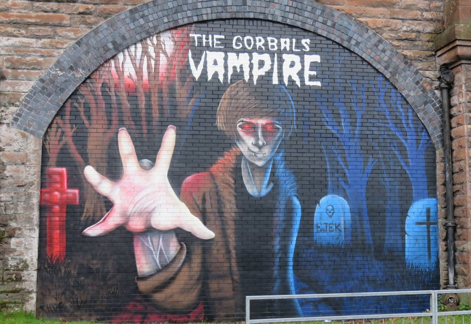 The Gorbals Vampire mural, in Luke's Place, by the artist EJEK