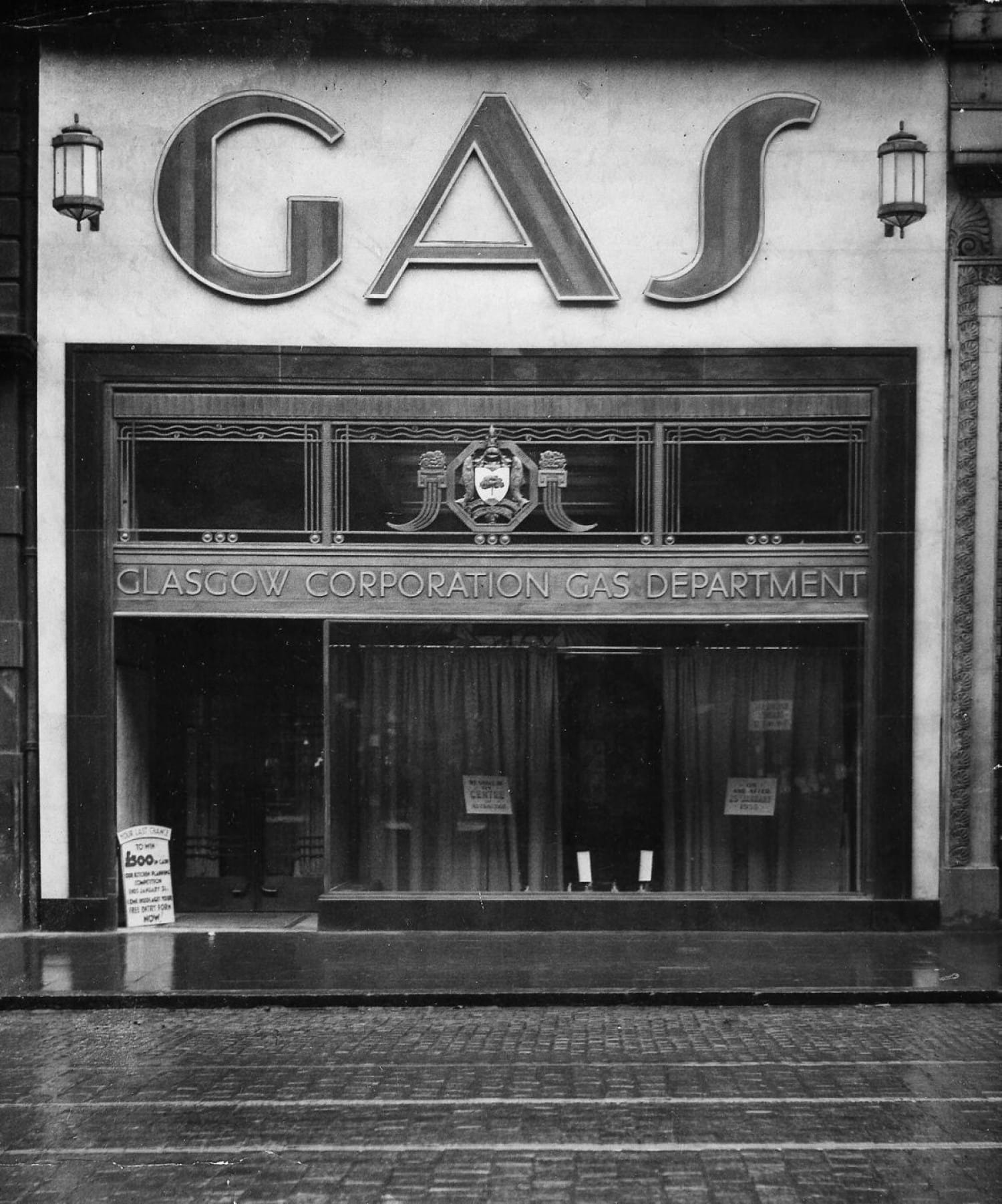 The Glasgow Corporation Gas Department shop in Sauchiehall Street, 1930s (Glasgow City Archives)
