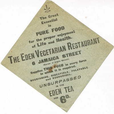 Meet you in Eden (An Eden napkin advert, circa 1905 (Ernest Bell Library))