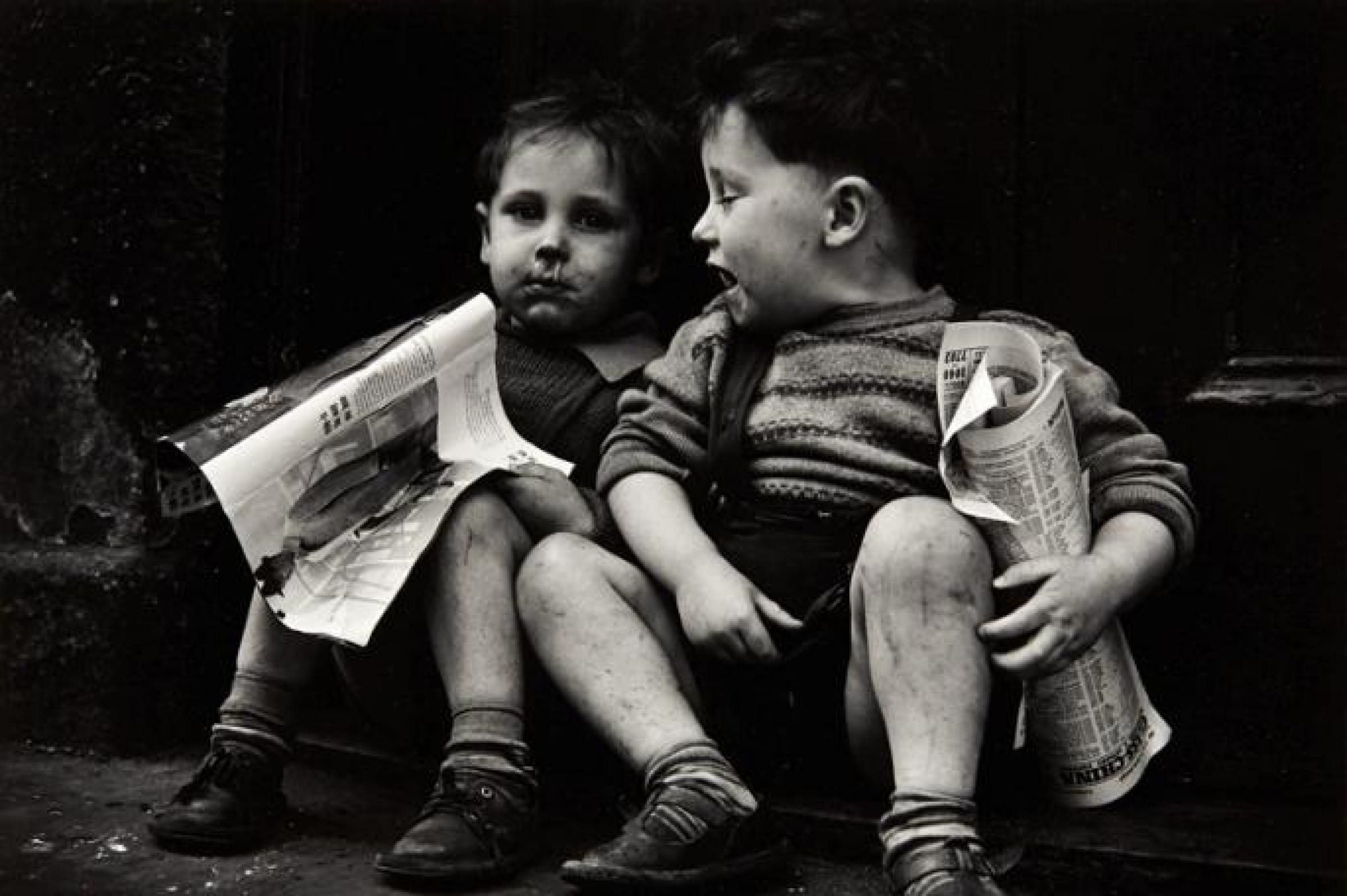 Read all about it! (Gorbals boys, 1960s, Joseph McKenzie)