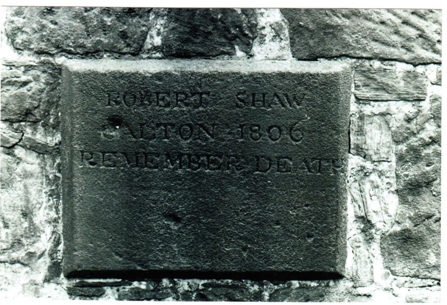 Wall plaque, Calton Burial Ground, Abercromby Street .