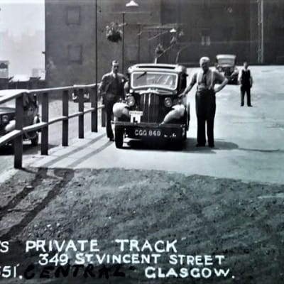 Tracking Dickie's history (Dickie's 'private track' driving school, 349 St Vincent Street)