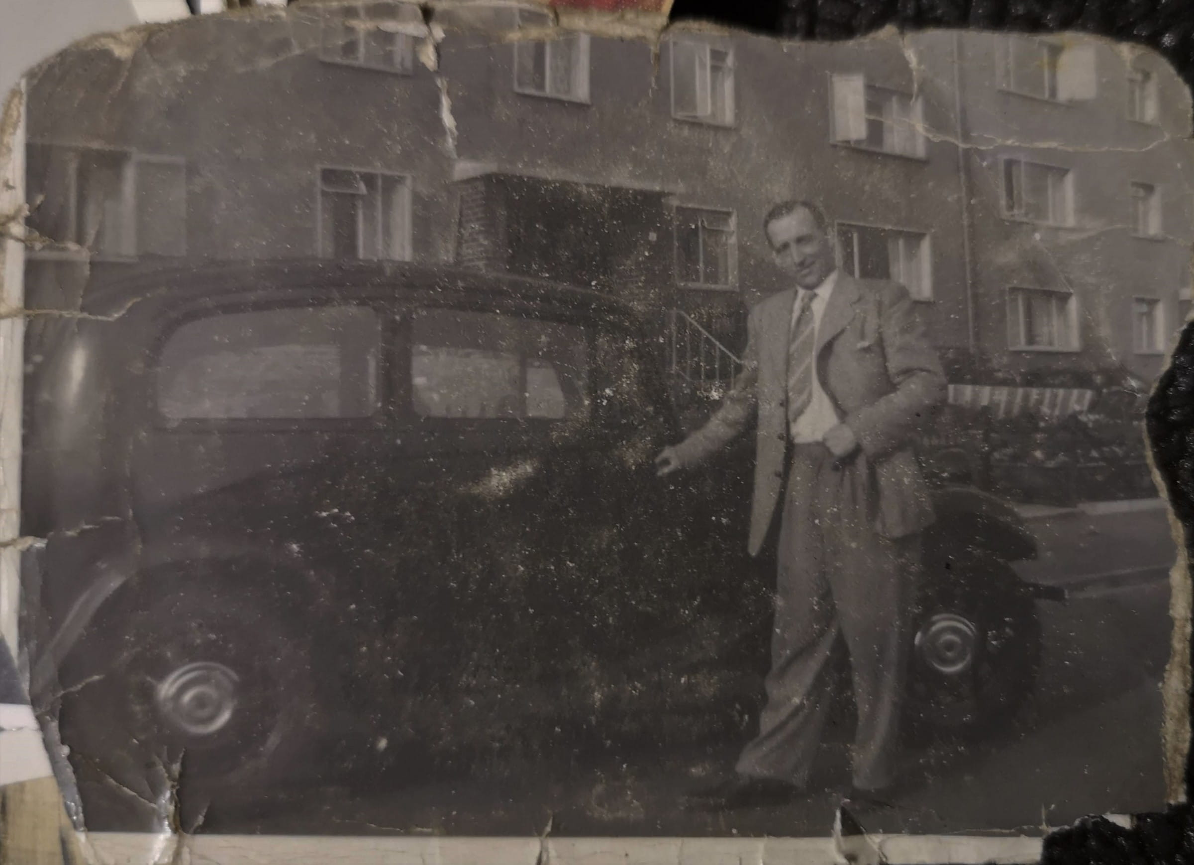 Grandad cut a dash (Duncan Spiers with his pride and joy)
