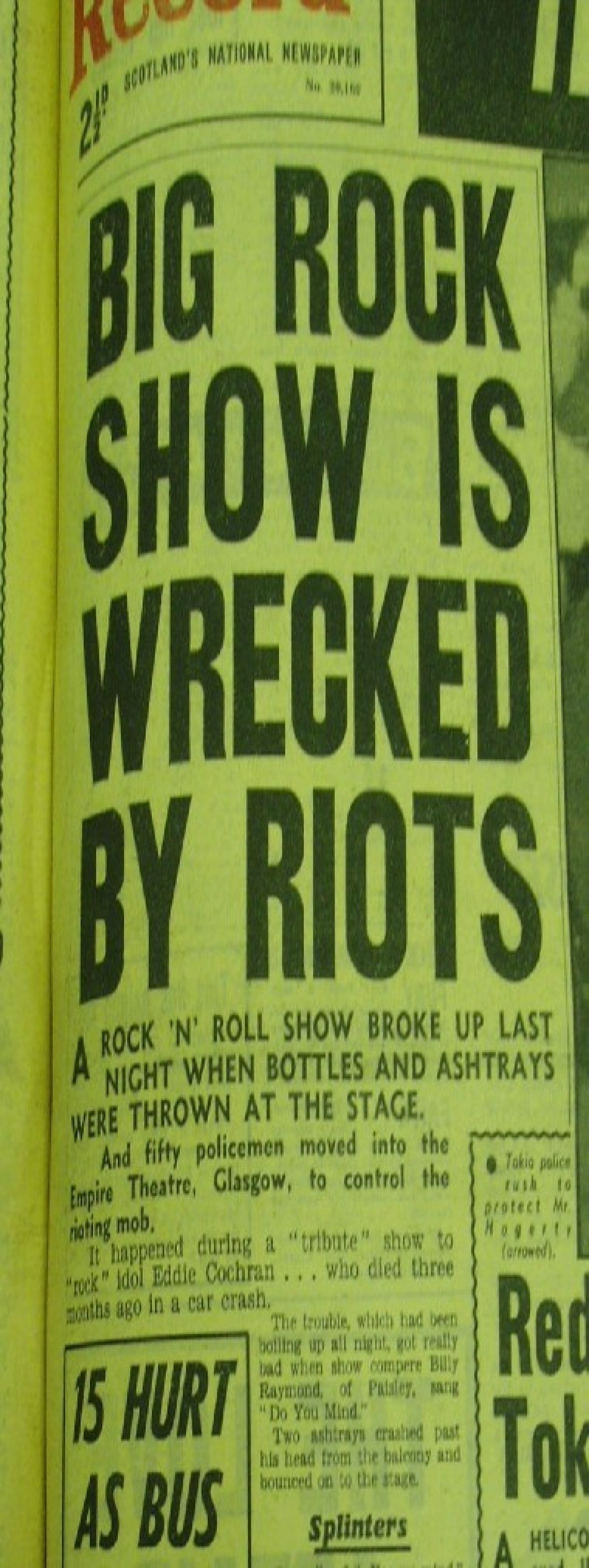 There's a riot going on - how the gig ended.