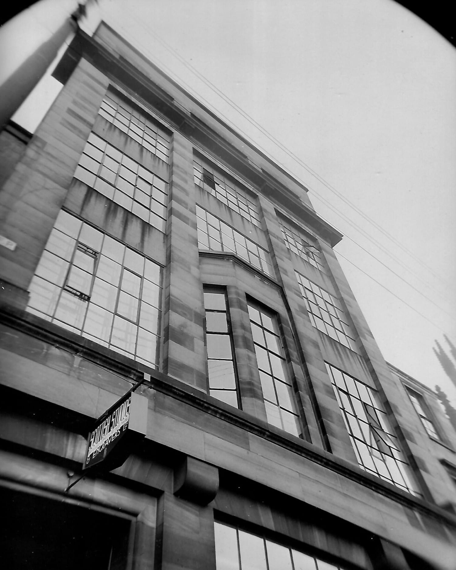 The entry to the building - possibly 1930s/40s