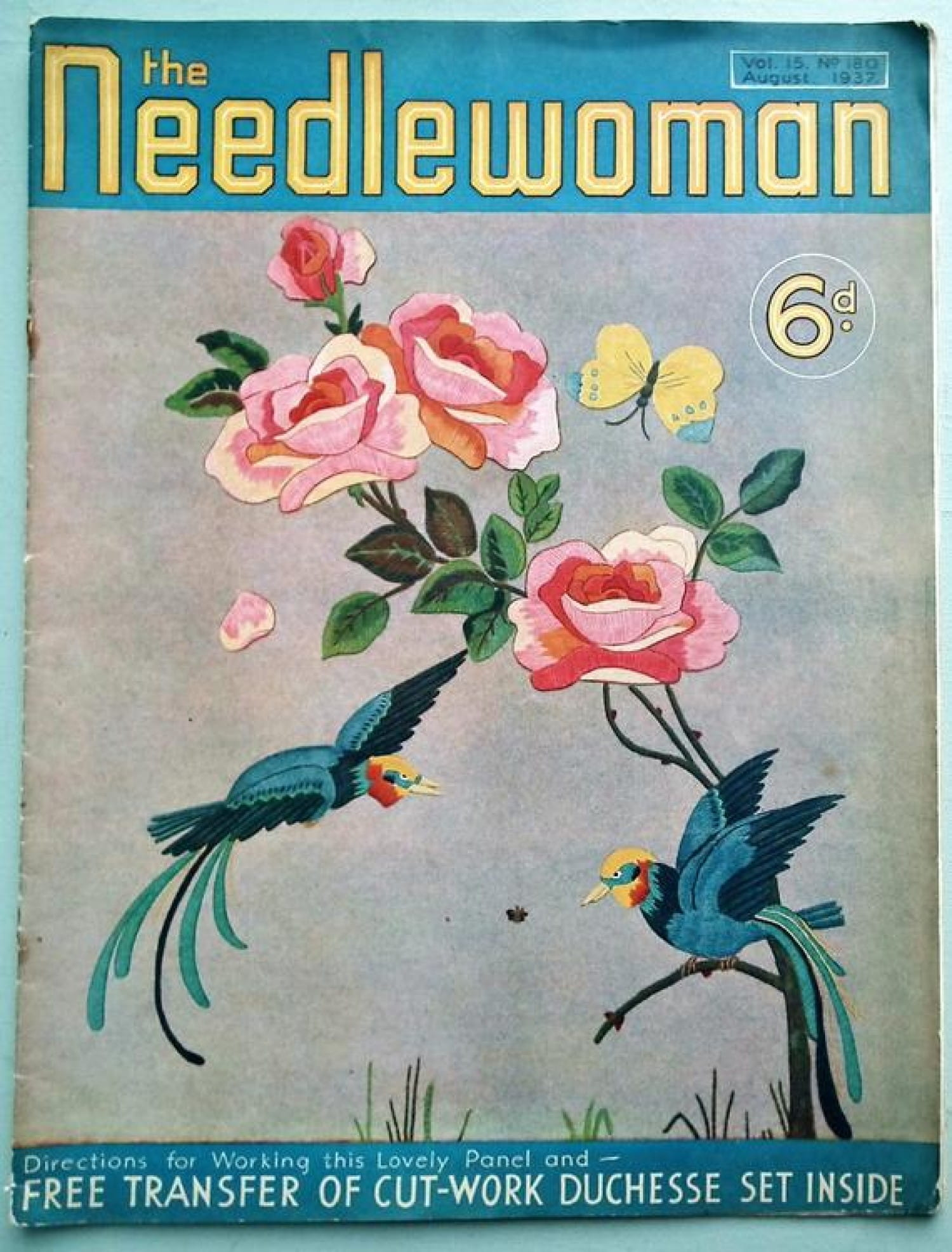 The August 1937 copy of Needlewoman, with the same masthead, which would suggest the pics are more 1930s, than 1940s