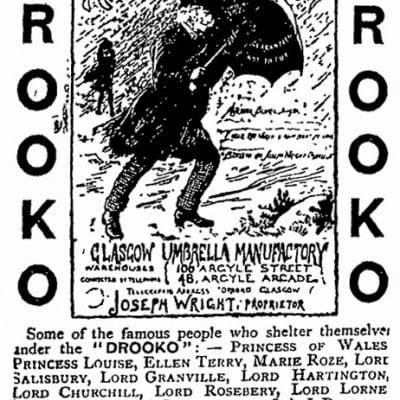 Drooko kept you dry (An advert for the 'Drooko', published in New Zealand's 'Otago Witness' newspaper, in February 1892)