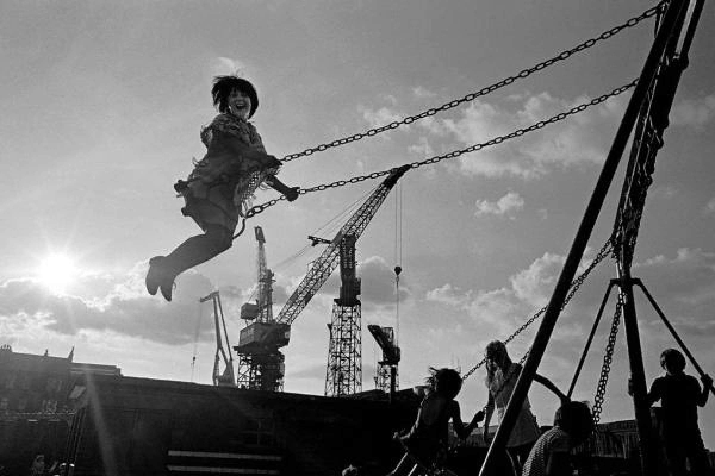Little things mean a lot (Girl on a swing, Govan, 1970 (Picture: Nick Hedges))