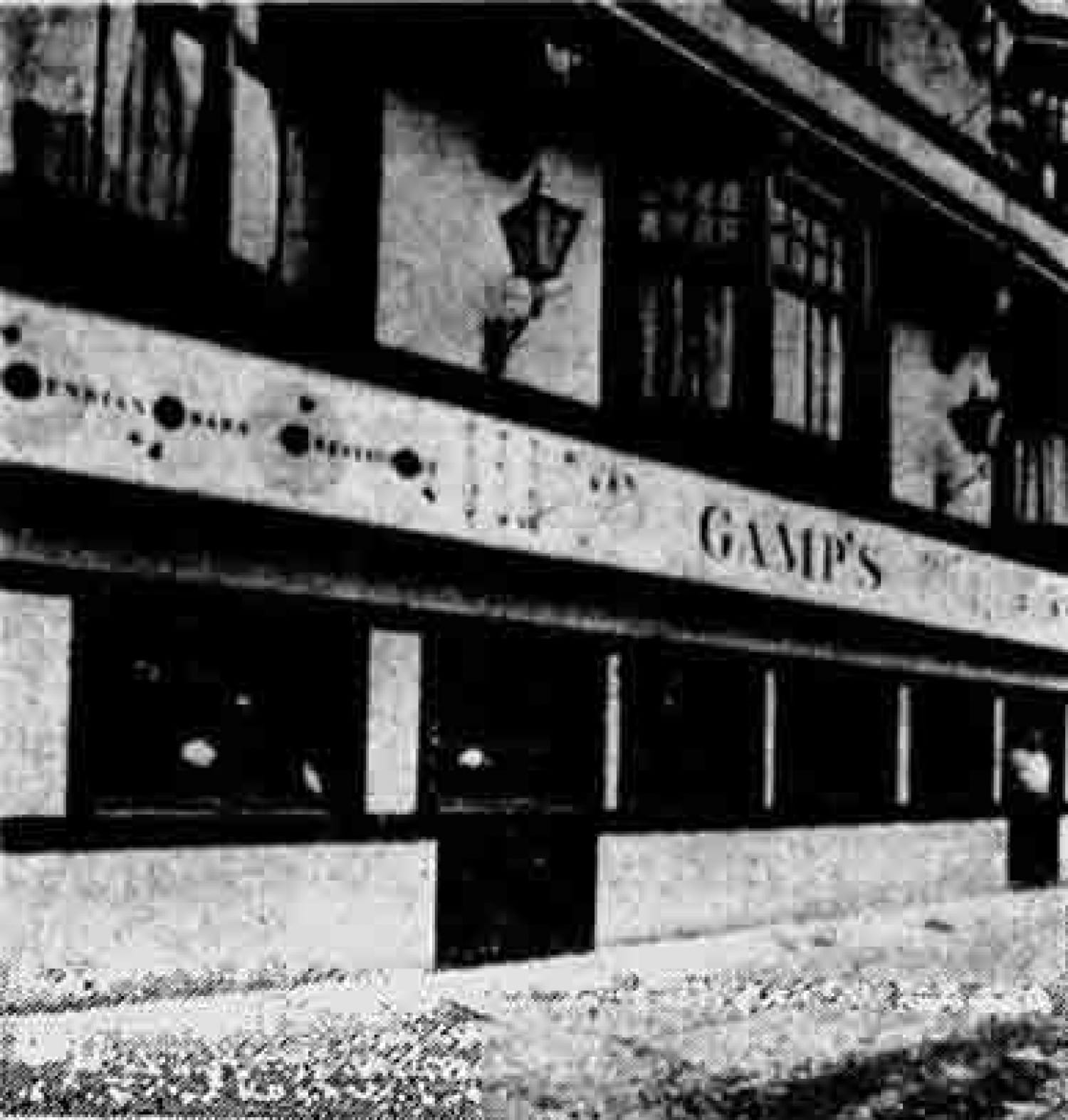 The pub, then called Gamps, when it was rocking a Charles Dickens theme