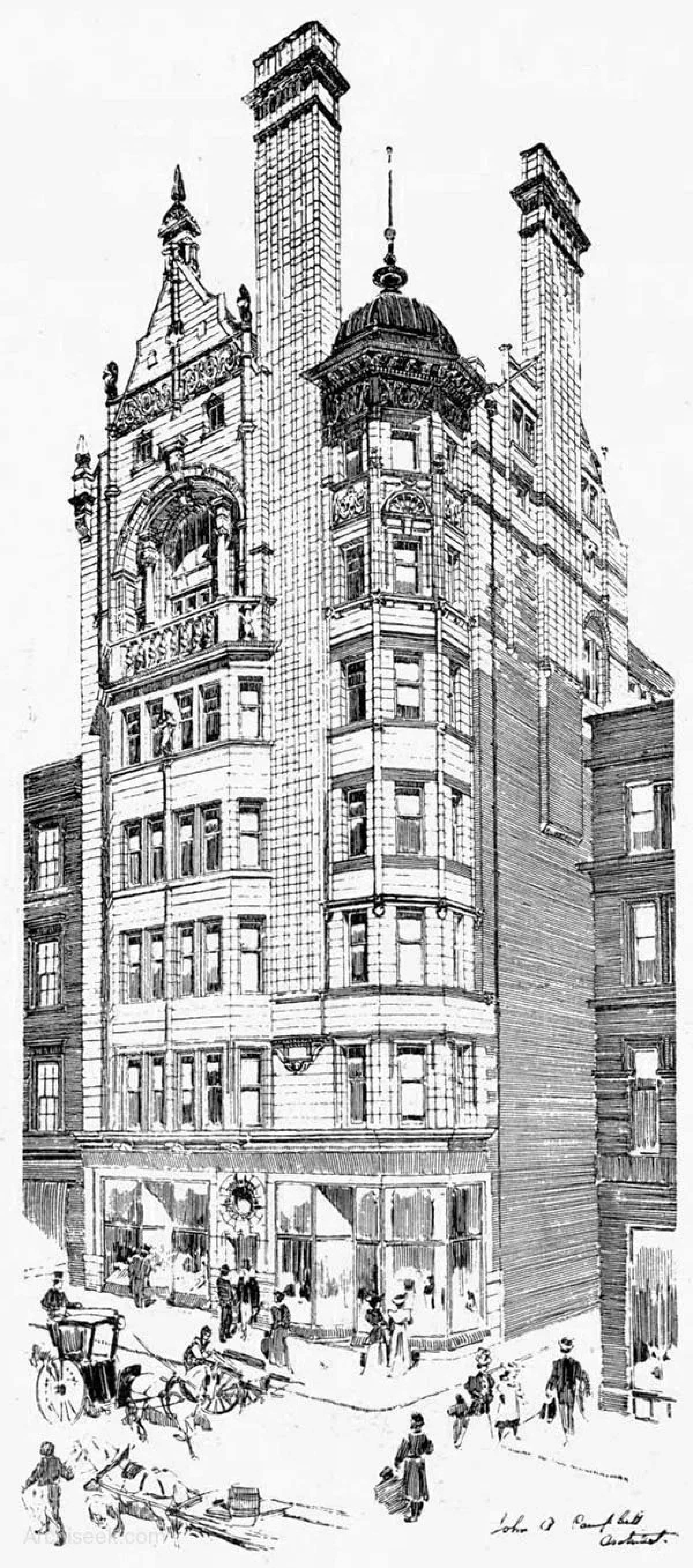 Little and large (Architect John Archibald Campbell's Britannia Assurance Building, Buchanan Street (Picture: Archiseek))