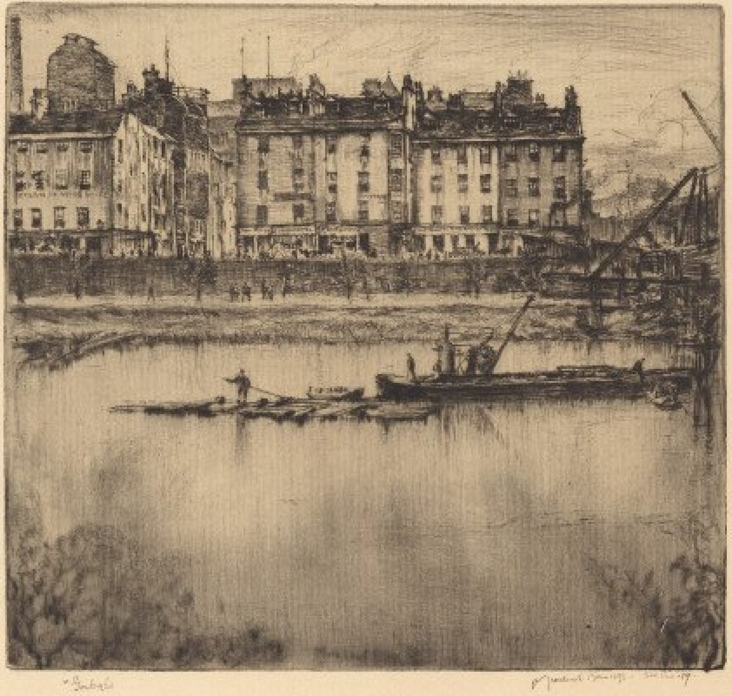 Etched in the memory (Gorbals, 1907, by Muirhead Bone)