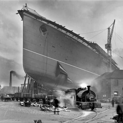 That sinking feeling (The building of the Lusitania, at John Brown's, Clydebank  Picture: Scottish Shipbuilding & Engineering Heritage)