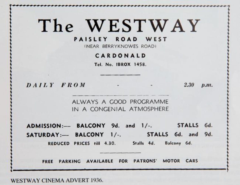 Westway advert, 1936