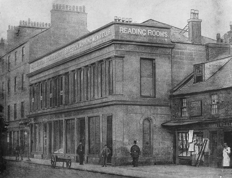 The first Bridgeton Working Men's Club (Picture: Bridgeton Library)