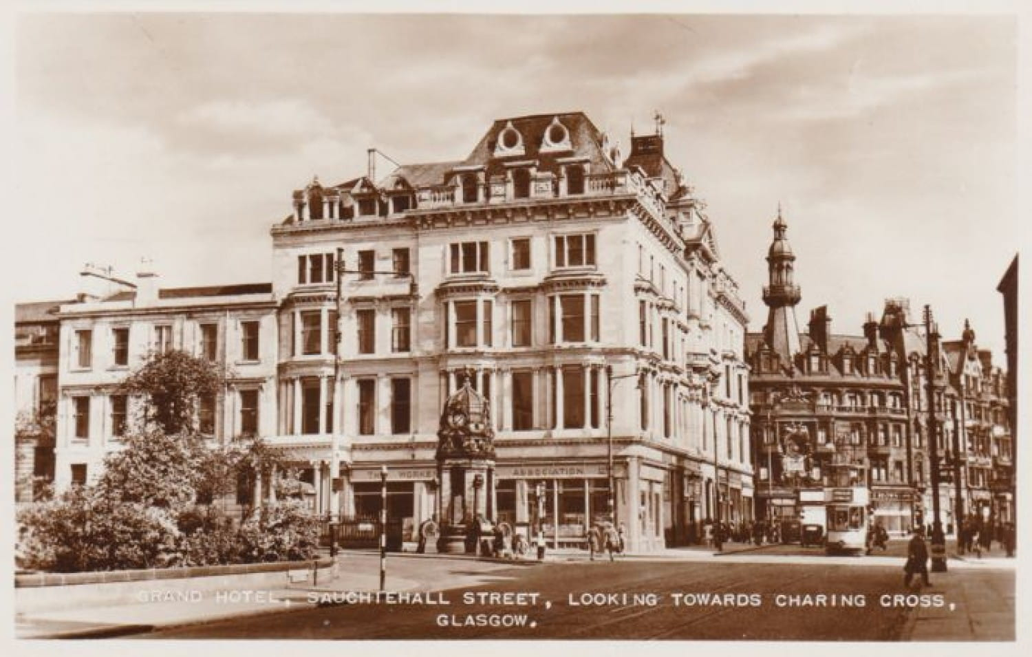 A postcard view of the Grand