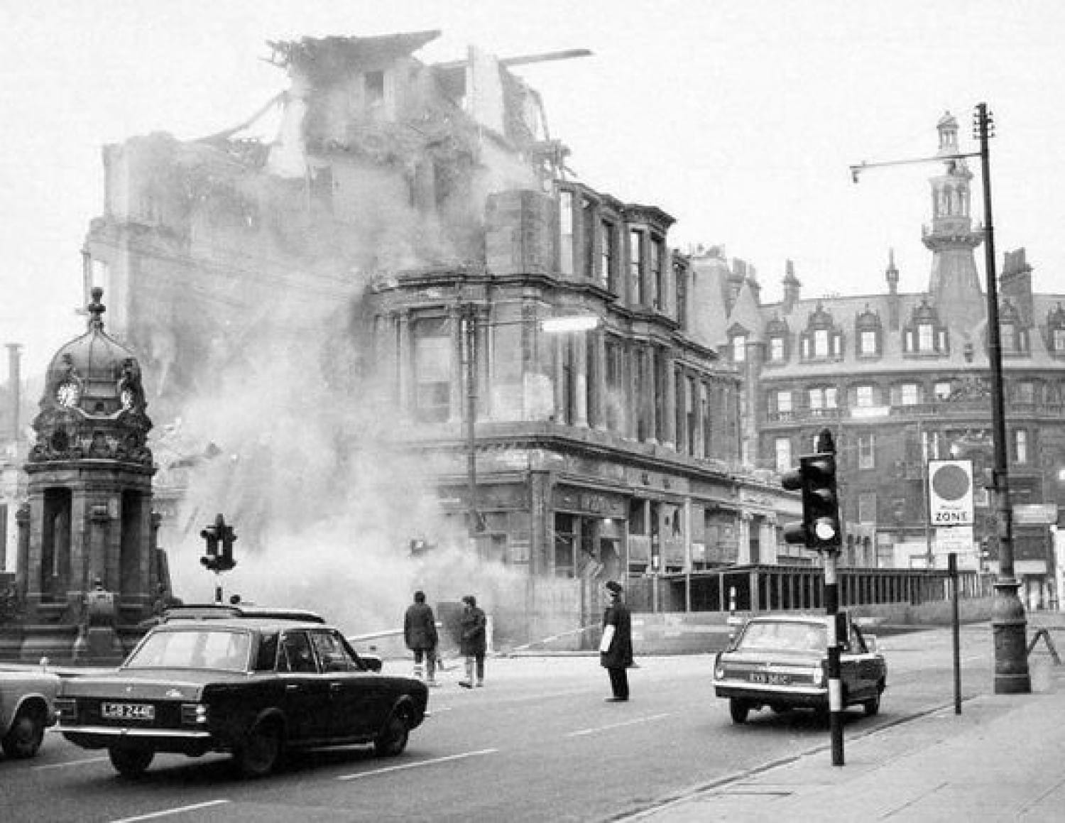 Ashes to ashes, dust to dust - the hotel's demolition, in 1969