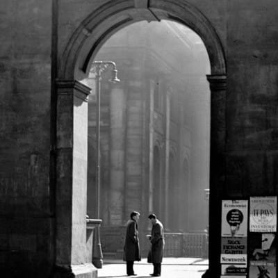 Arch encounter (Exchange Place, 1955 (Partick Camera Club))
