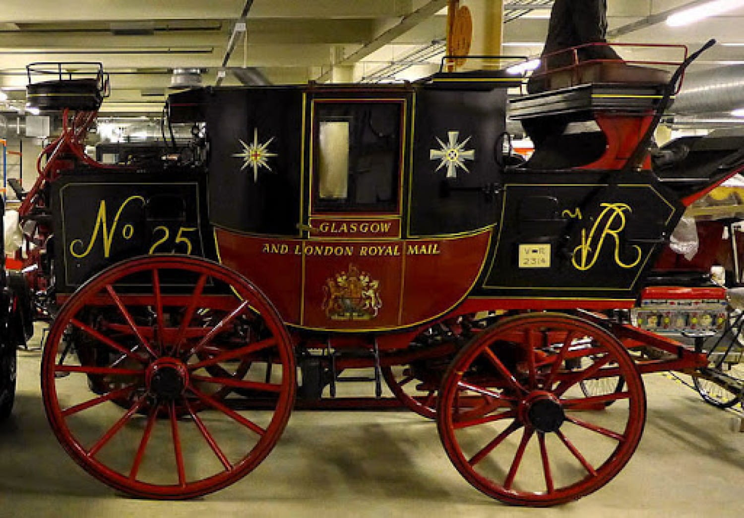 One of the surviving Glasgow/London Mail Coaches
