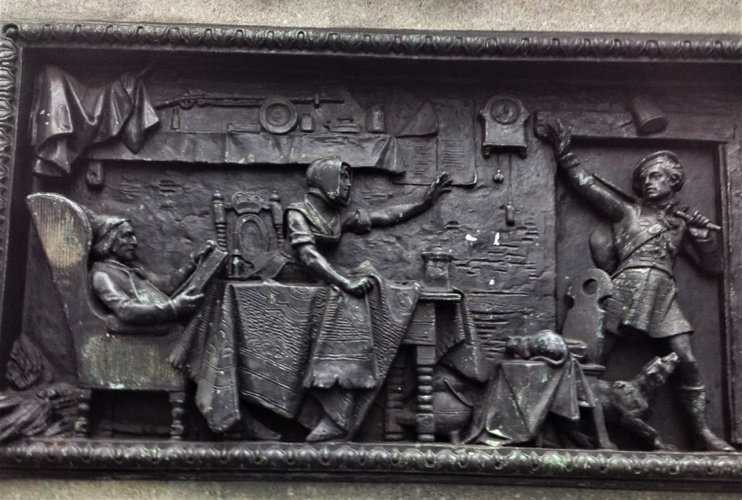 The Soldier's Return - one of the panels on the plinth of the Duke of Wellington statue