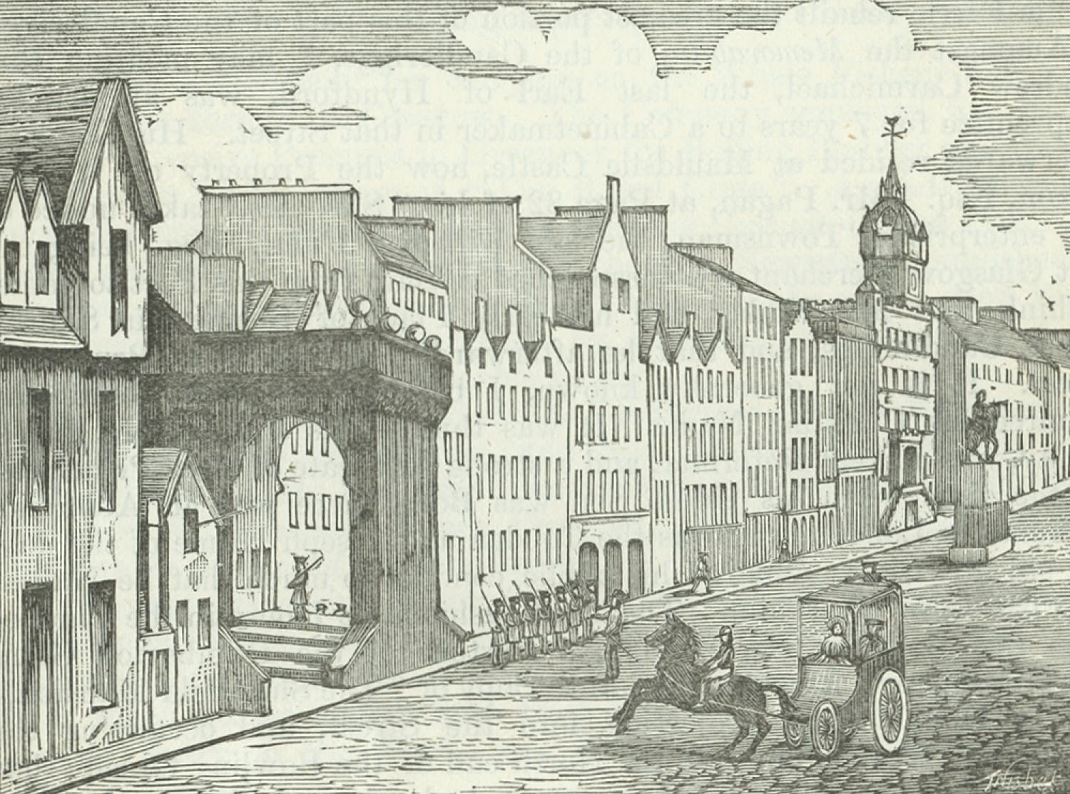 The old Guard House in the Trongate - Glasgow City Archives