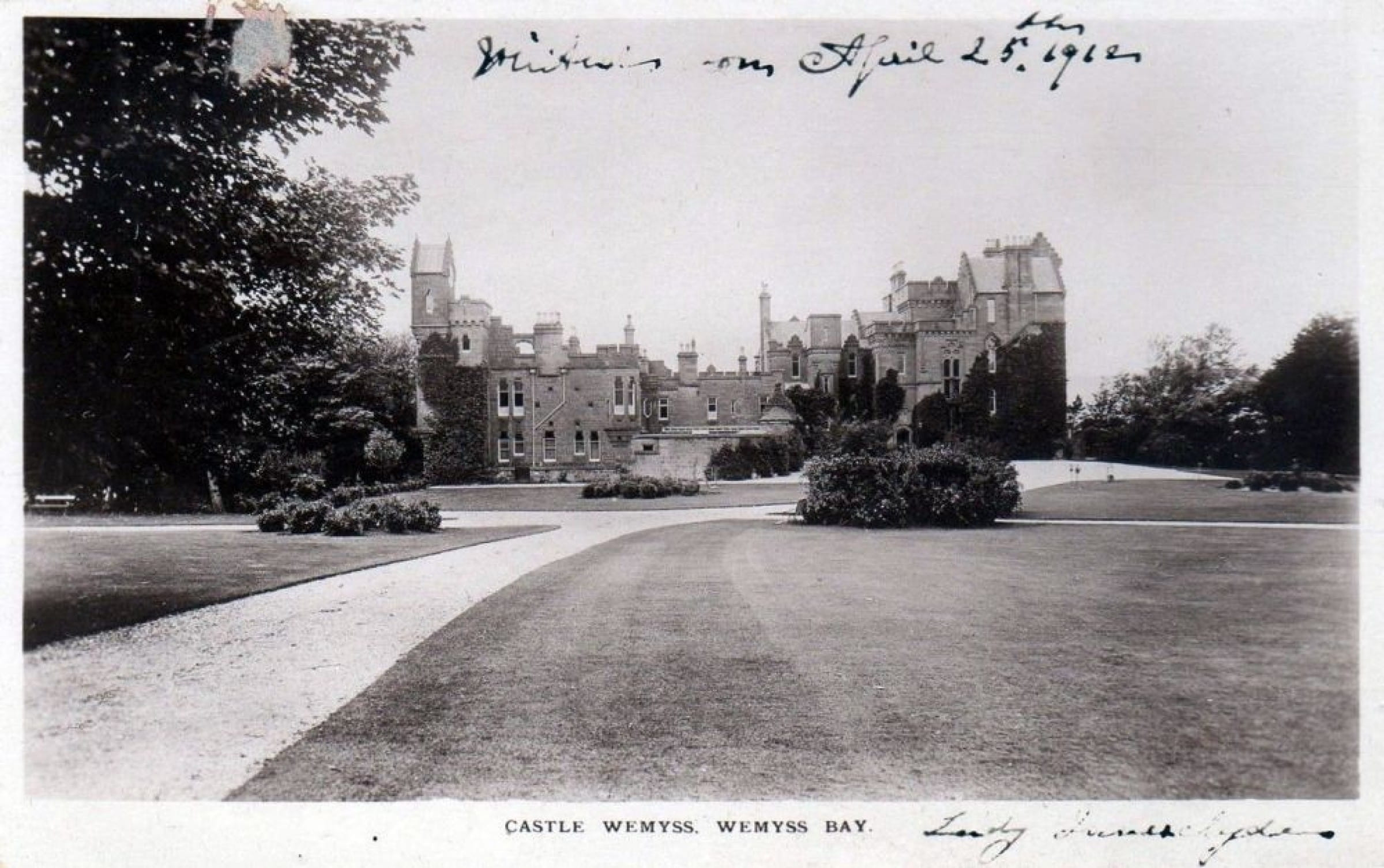 Fit for an Emperor (Wemyss Castle, postcard view)