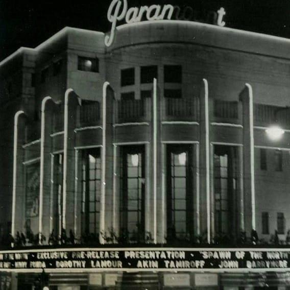 Saturday night at the movies (The Paramount Cinema, 1938, by Hugh Jamieson)