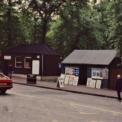Last days of the Greenie (Kirklee Post Office and 'the Greenie', 1995 (Picture: Campbell Ramage))