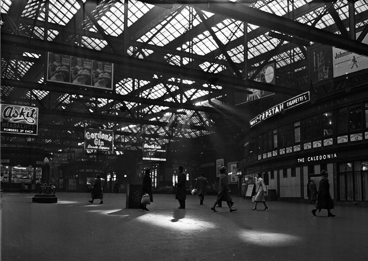 Incoming! (Dappled light shades the city, and the shell, 1950s (Picture: TSPL))