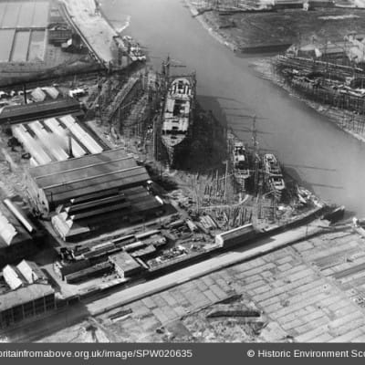 Eye spy with my little eye (Picture showing a bustling Clyde shipbuilding industry taken in 1928. Pic: britainfromabove.org.uk)