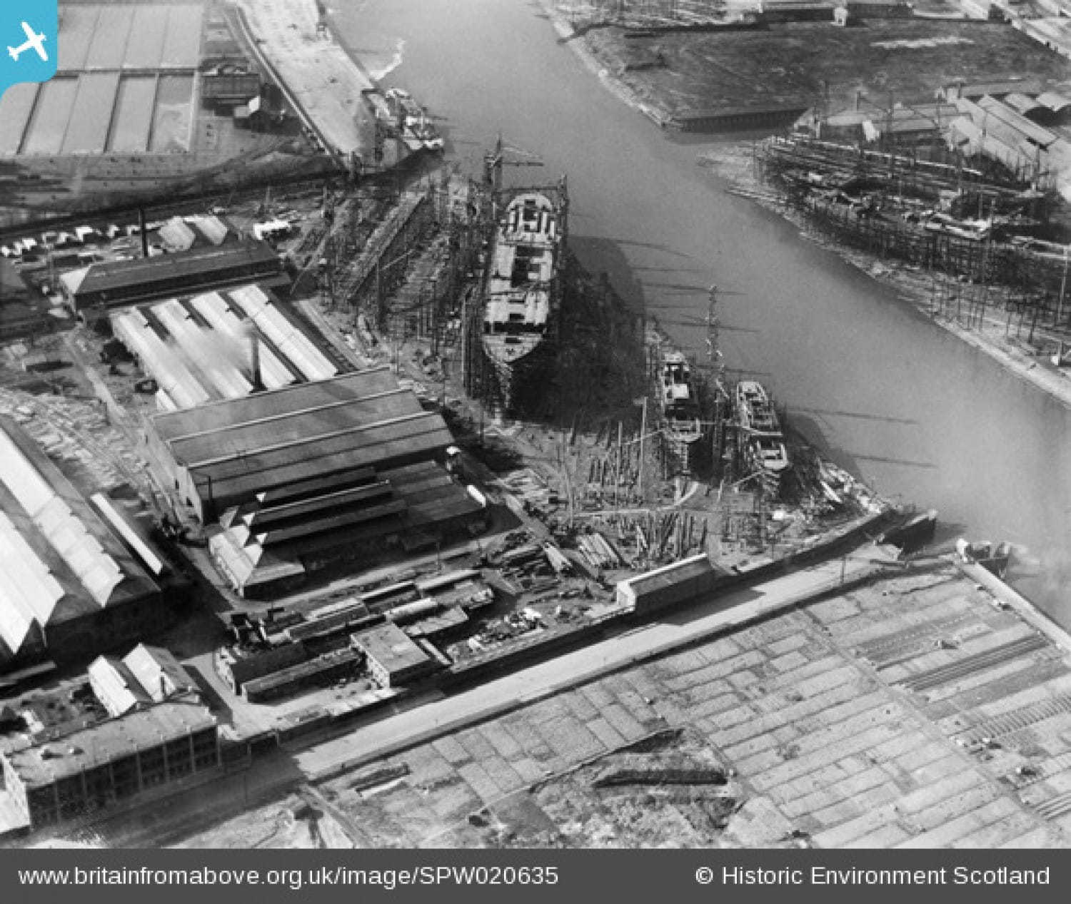 Picture showing a bustling Clyde shipbuilding industry taken in 1928. Pic: britainfromabove.org.uk