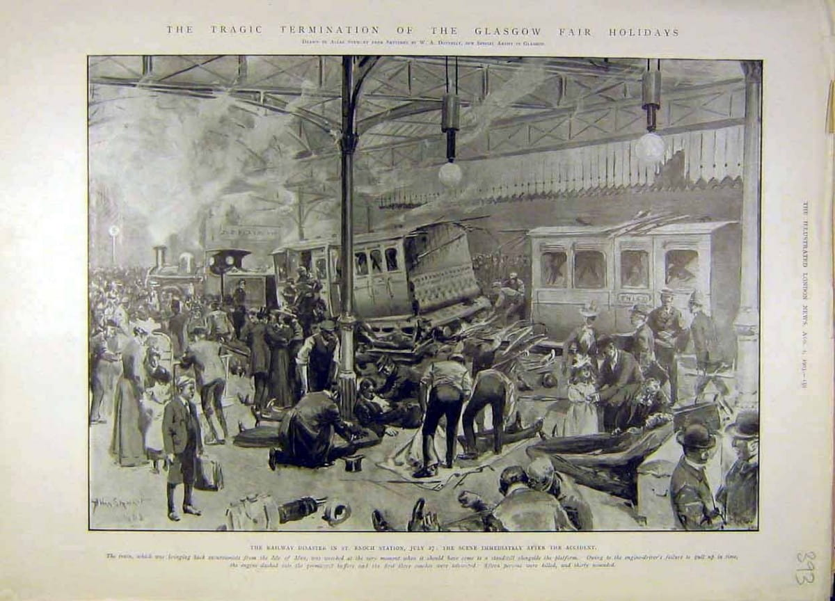 Glasgow Fair tragedy (The 1903 St Enoch Station disaster, as seen by the London Illustrated News)
