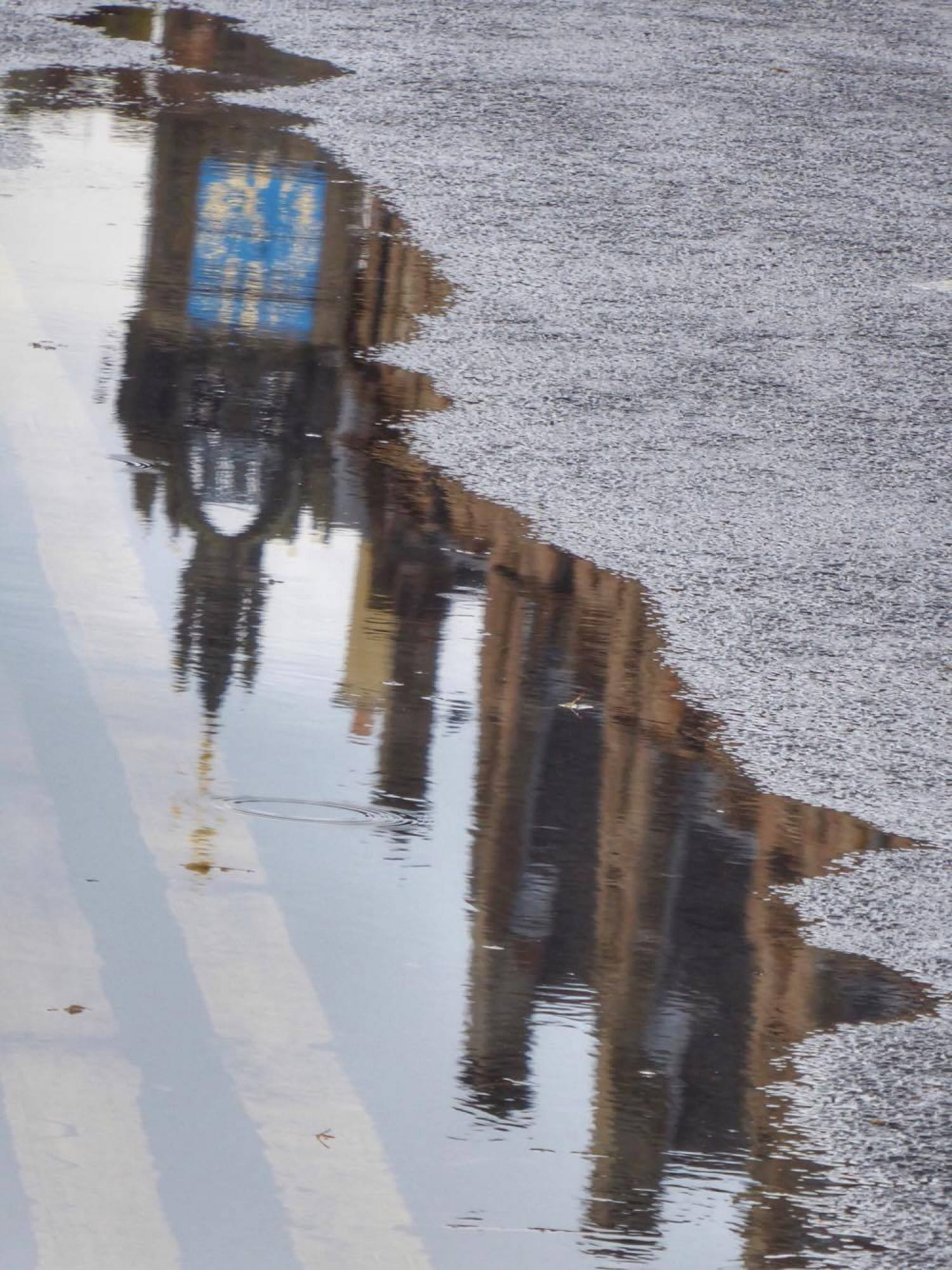 Reflections on a soggy city...