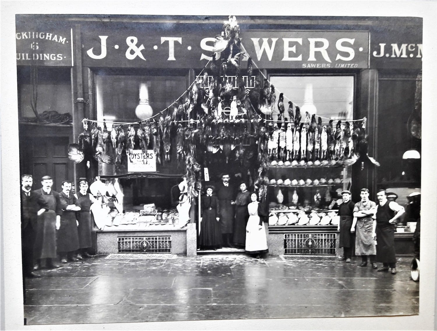 The Howard Street shop and staff in 1899 (Picture: John Sawers)