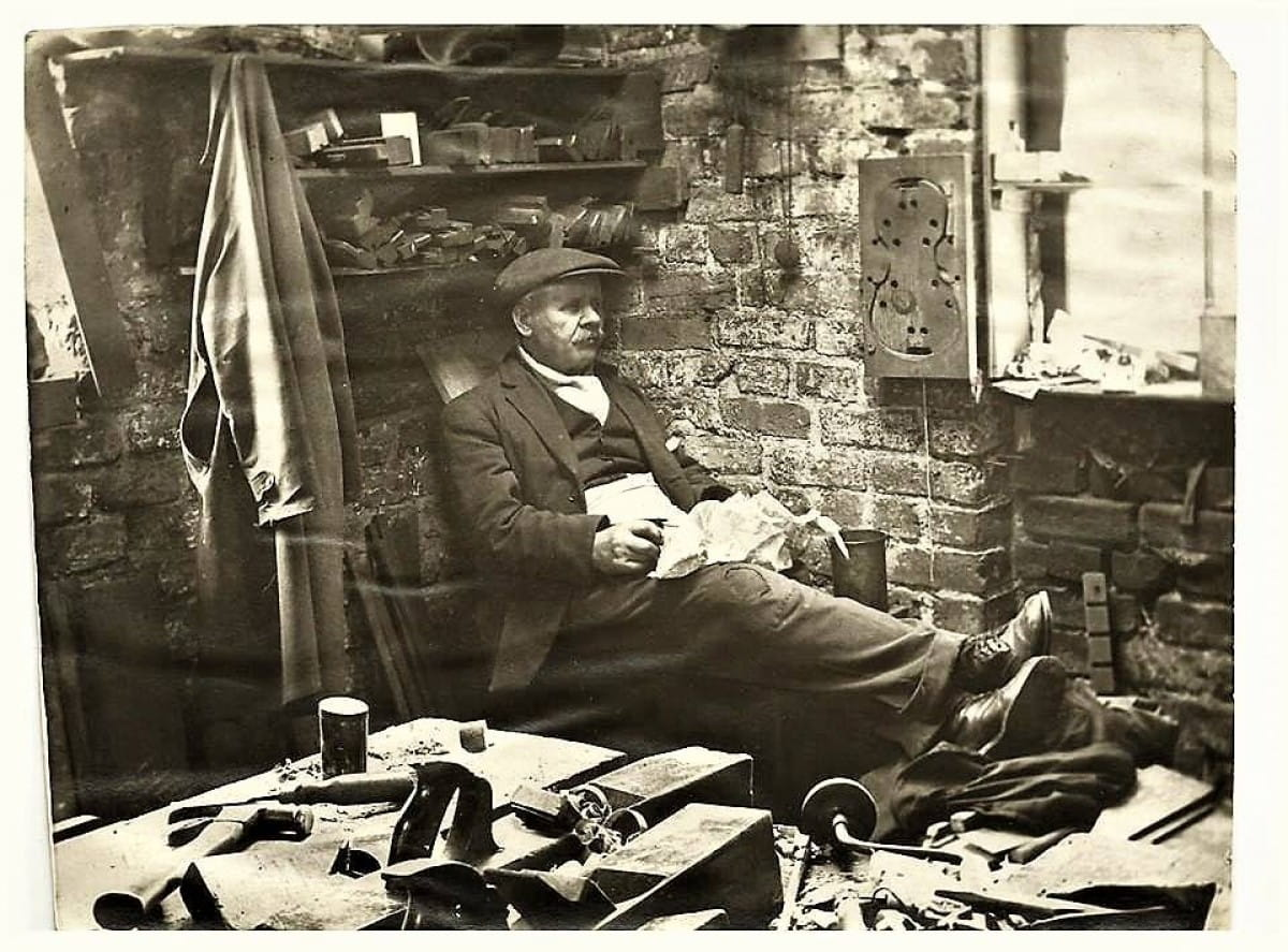 Piece in our (lunch) time (Glasgow fiddle/violin maker, 1930s (Picture: Colin McCurrach))