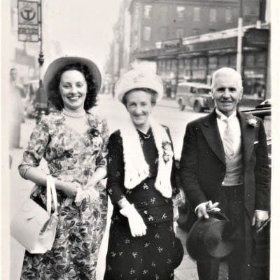 Mum's the word (My mum, with her parents, in Union Street, in the summer of 1949.)