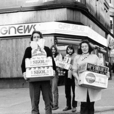 There's always change at Agnews... (Agnews, Byres Road, 1975 (Newsquest))