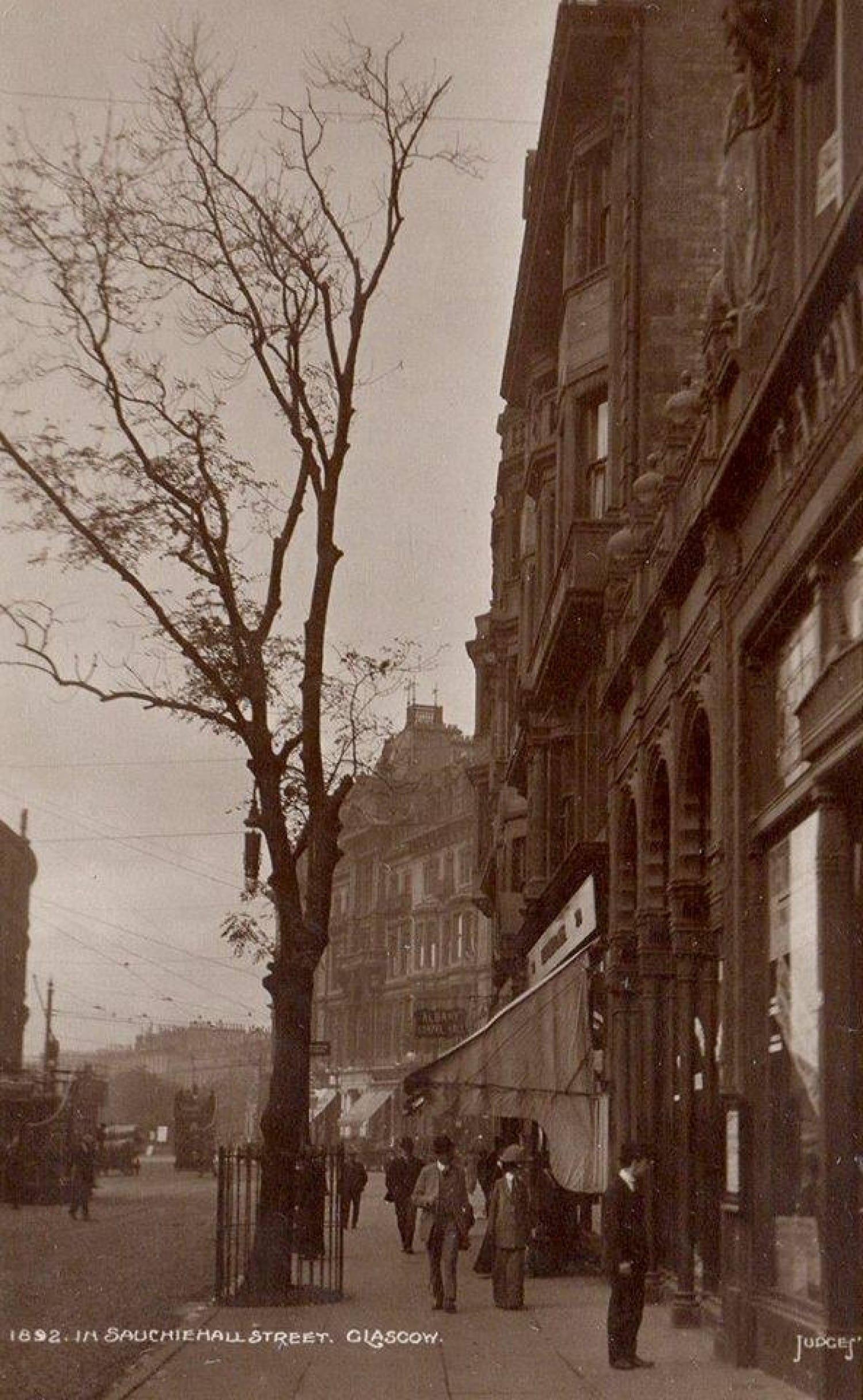 Sauchiehall Street, at Charing Cross, 1892