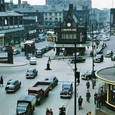 Rare coloured view of St Enoch Square (Daily Record)
