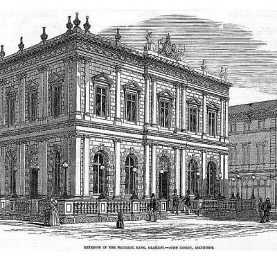 Hall's well that ends well... (The Bank building, in Queen Street (Illustrated London News))