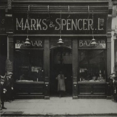 100 years of serving Glasgow (Glasgow's first M&S, at 28 Argyle Street, in 1919 (M&S))