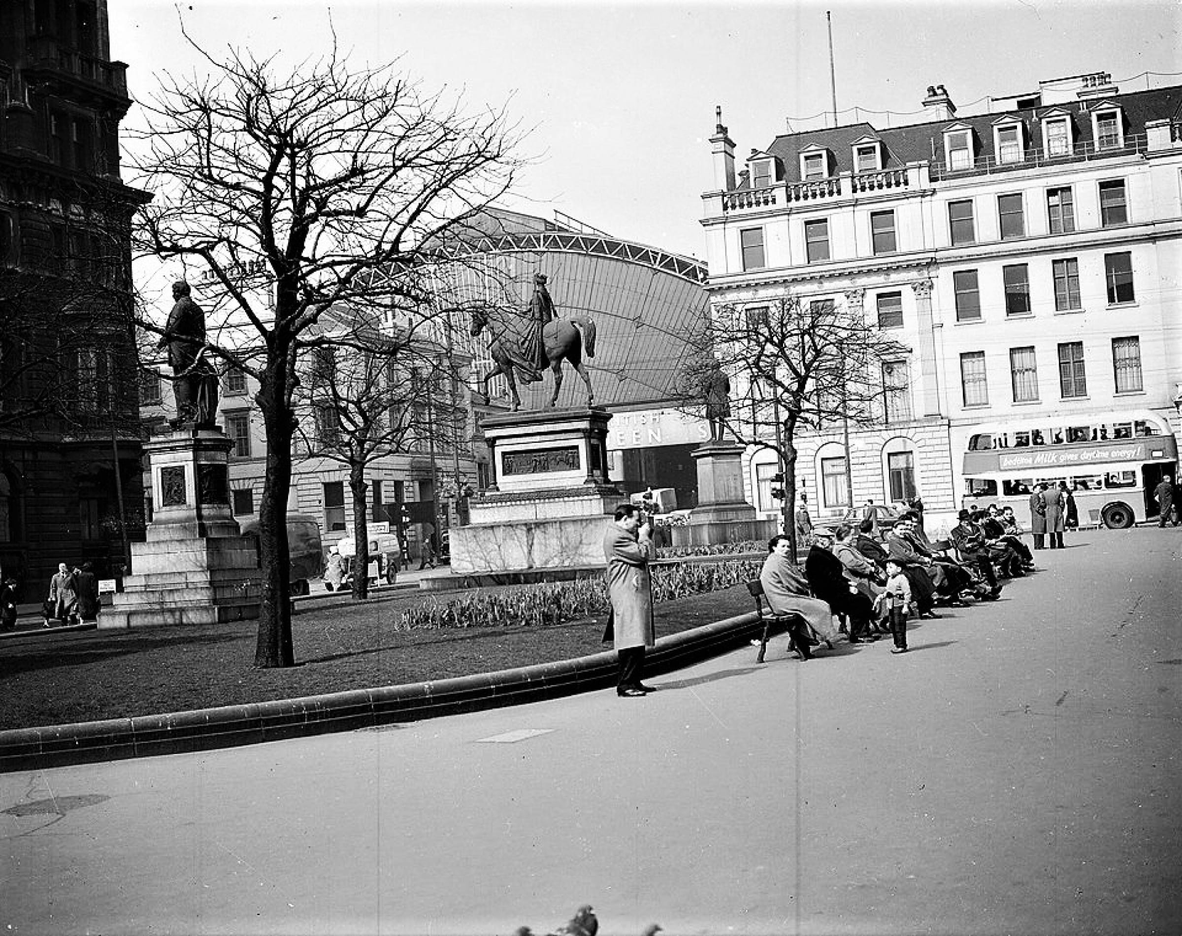 Look out, he's got a gun! (George Square 1956 (TSPL))