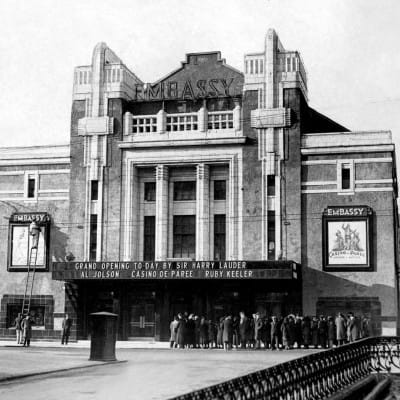 Embassy tipped to welcome a star (Embassy Cinema, Shawlands, 1936 (Herald and Times Group))