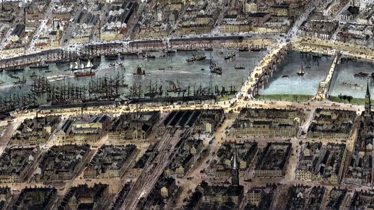 I spy Glasgow (A detail from Thomas Sulman's 1864 panorama of Glasgow)
