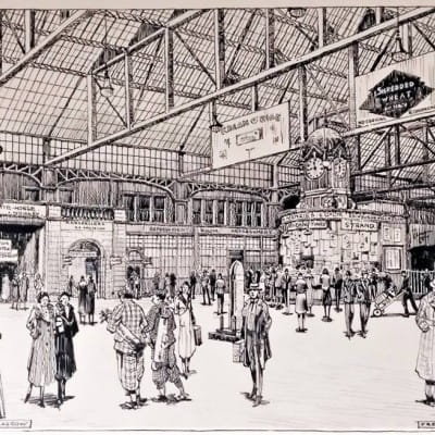 Sketchy memories brought to life (Central Station, 1932, by Frederick Murgatroyd)