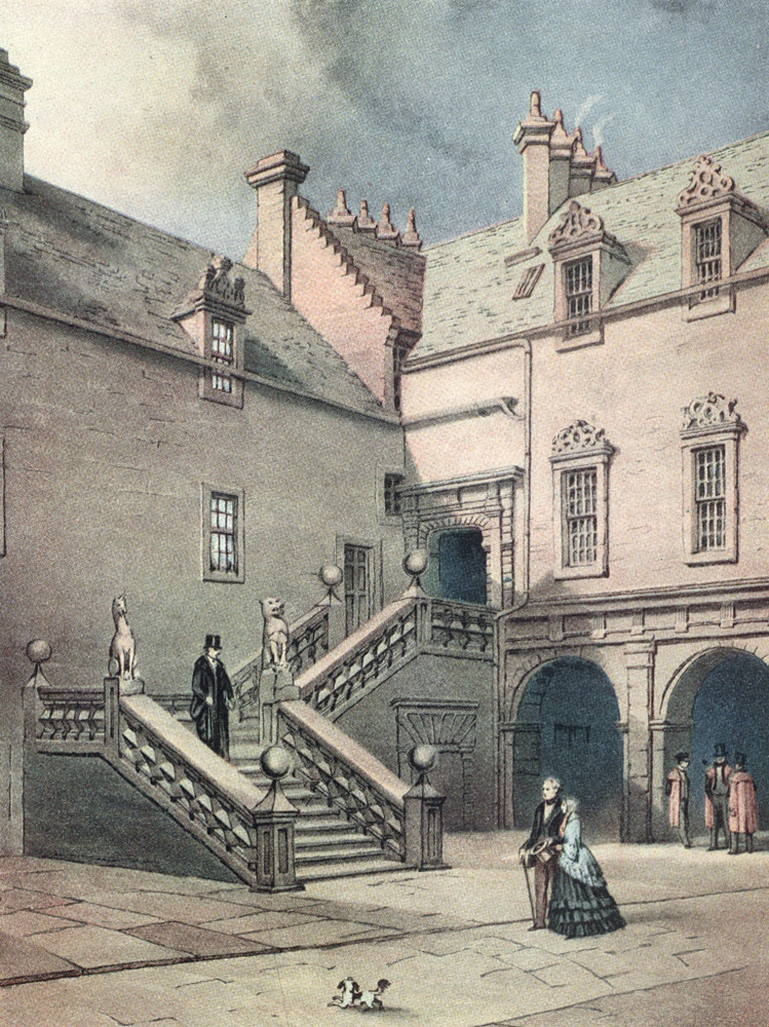 The Staircase, as painted by Thomas Fairbairn, in 1849