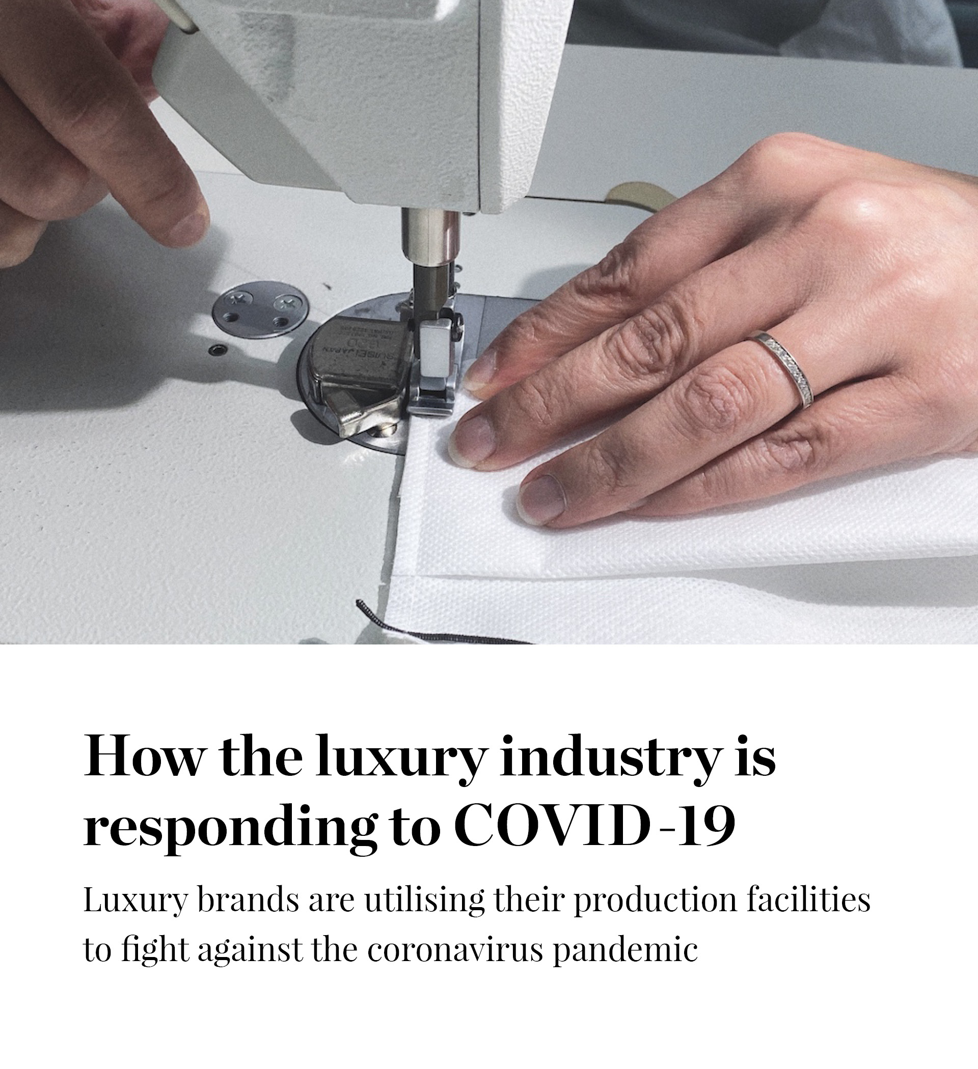 How luxury brands are responding to COVID-19