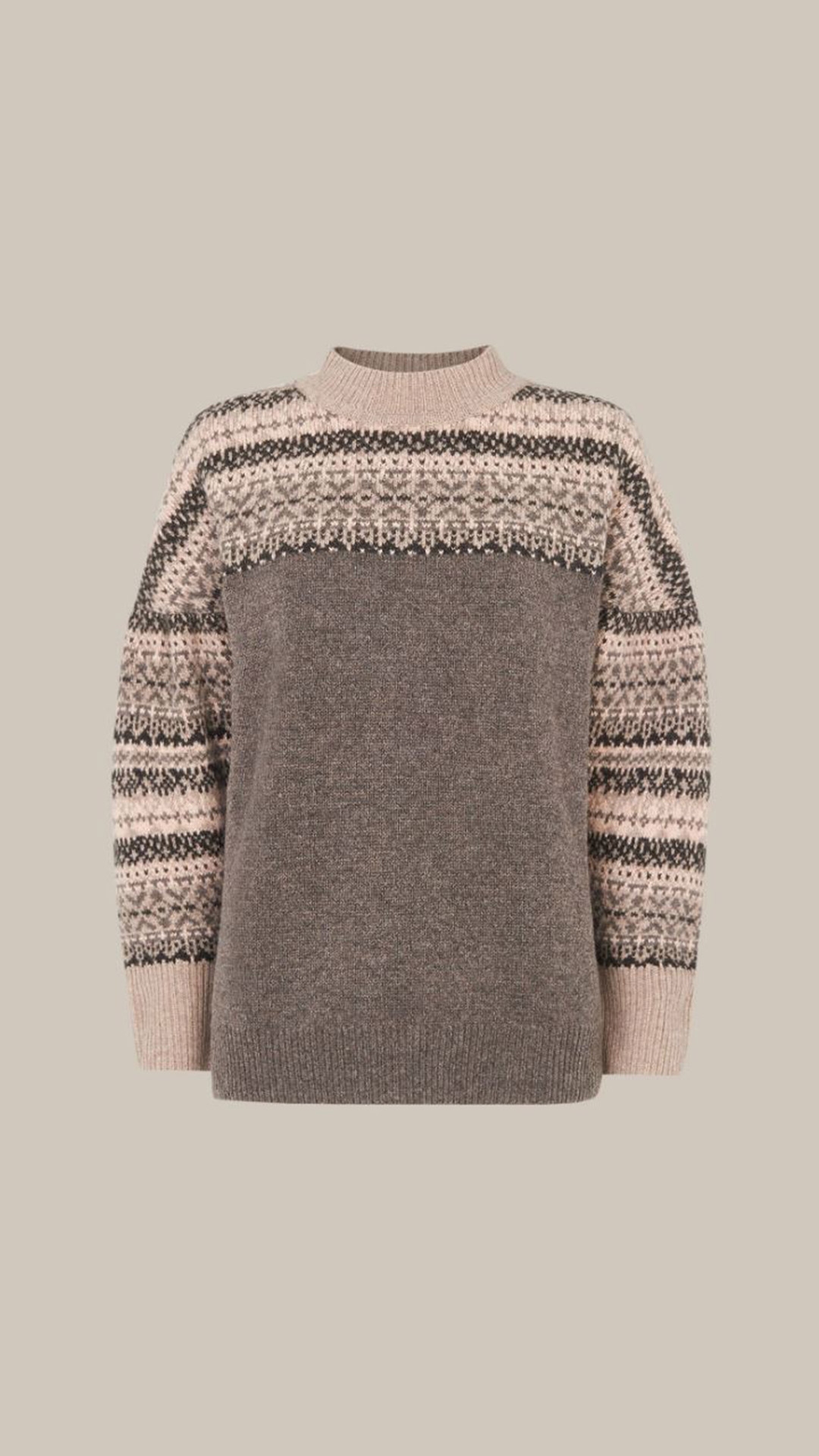 WHISTLES Fairisle Sweater