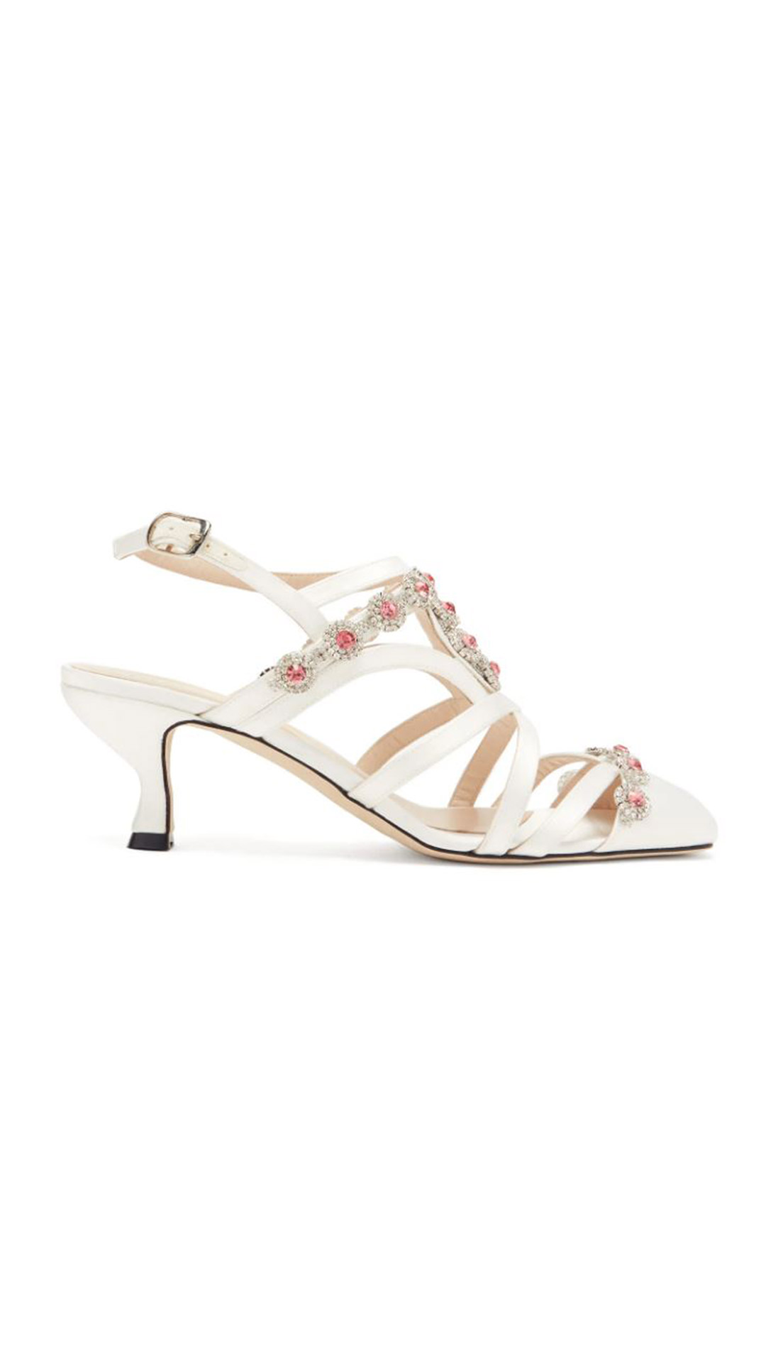 CHRISTOPHER KANE Crystal Daisy-Cupchain Sandals
