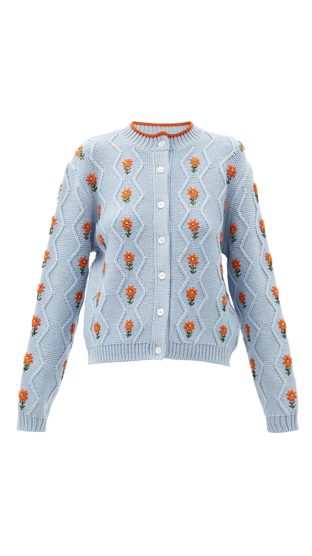 SHRIMPS Bennett floral wool-blend cardigan