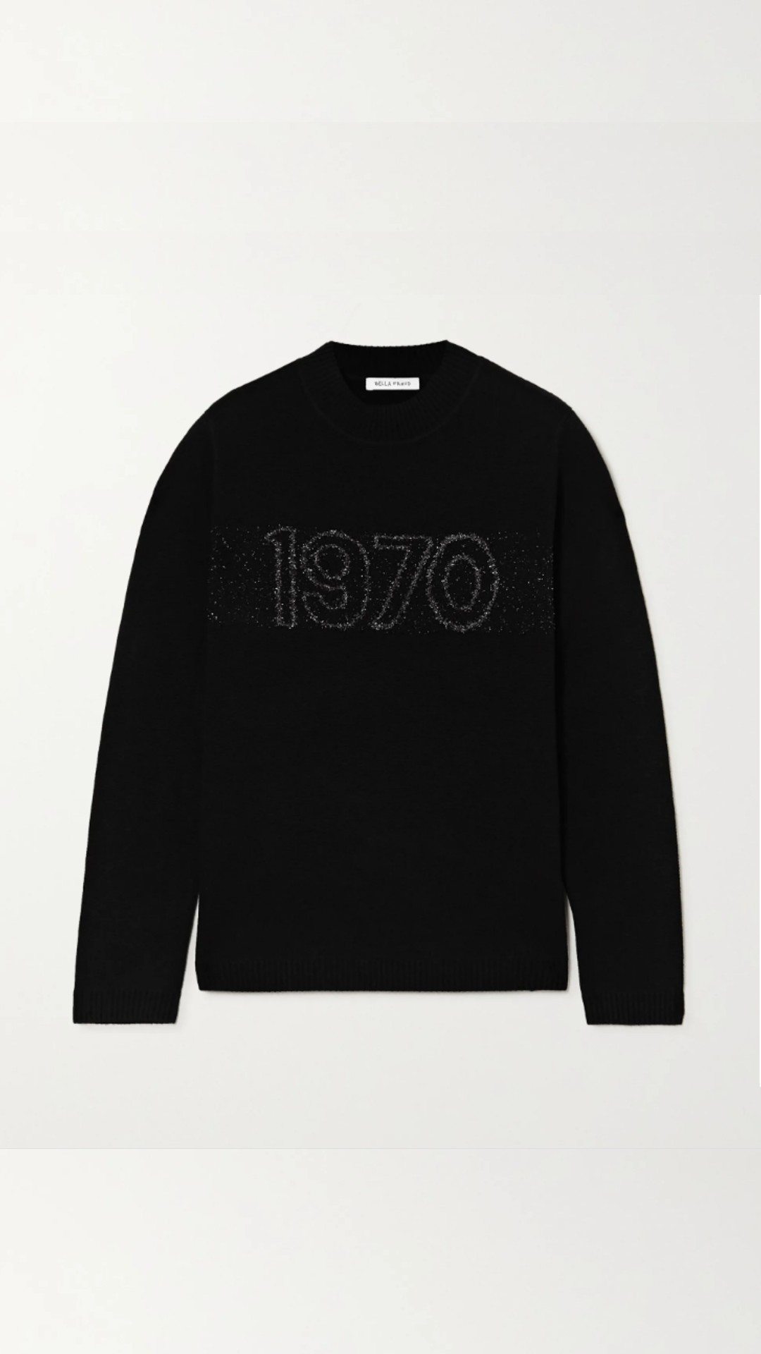 Bella Freud 1970 intarsia wool-blend sweater